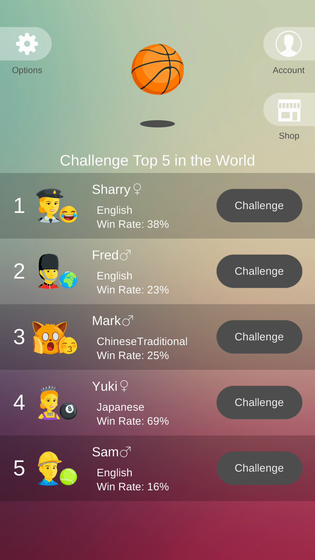 Basketball Challenge Top5