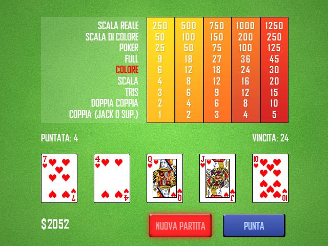 Gioca Video Poker