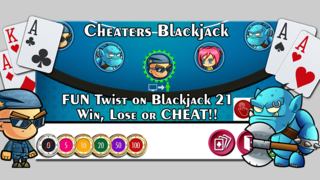Play Cheaters Blackjack 21