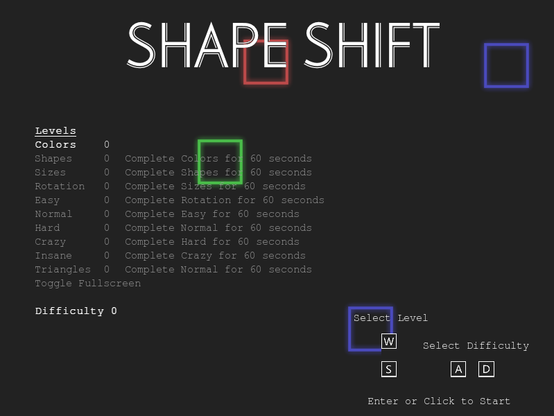 玩 Shape Shift