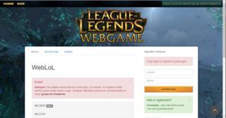 Jogar WebLoLGame