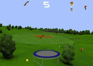 Играть Happy Trampoline