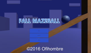 Играть Fall Mazeball