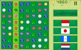 Play Match 3 Quiz Flags Online