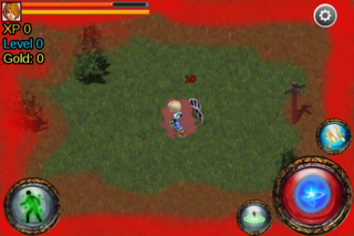 Bermain ARPG - bloody screen mod
