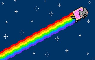 Bermain Flappy Nyan Cat