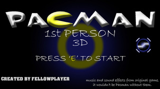 Mainkan Pacman 3D 1st Person