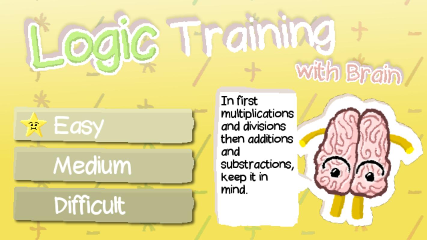Play Logic Training with Brain
