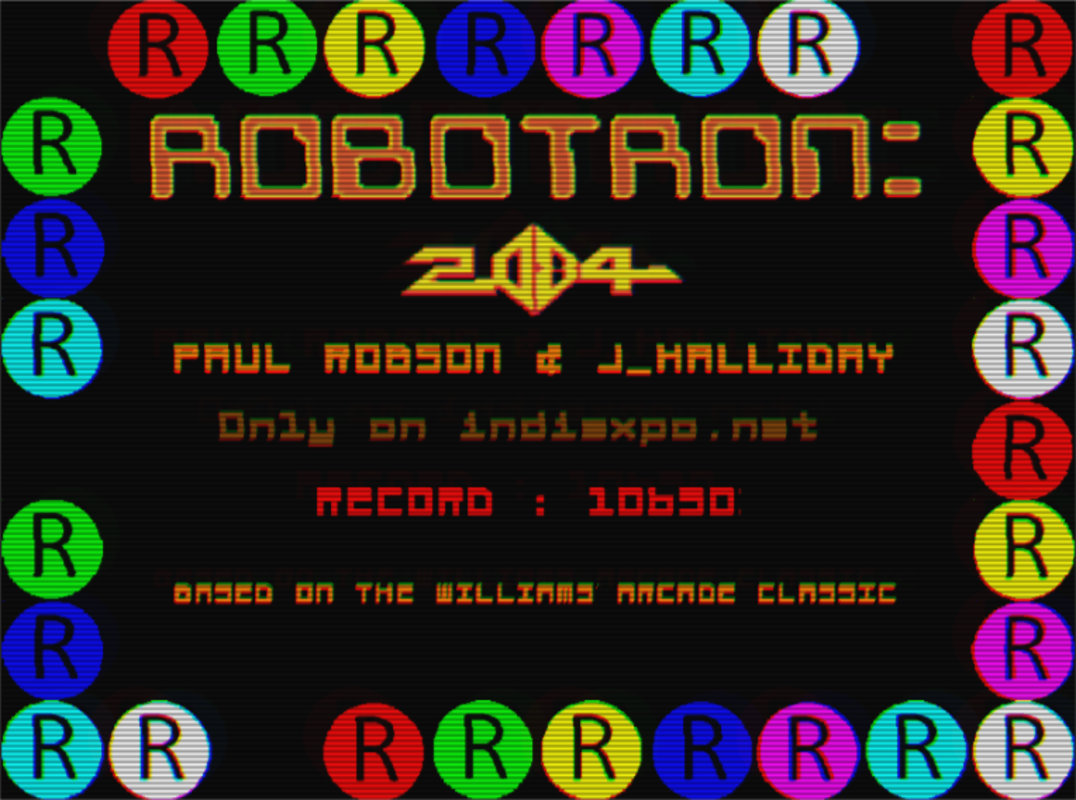 Robotron 2084 Online Videogame Published By Paul Robson J Halliday