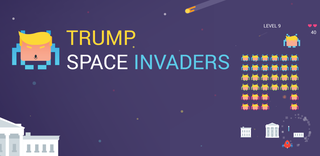 Zagraj Trump Space Invaders