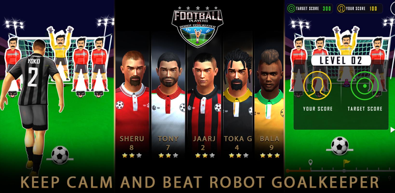 Play FootballStrike/RoboKeeper