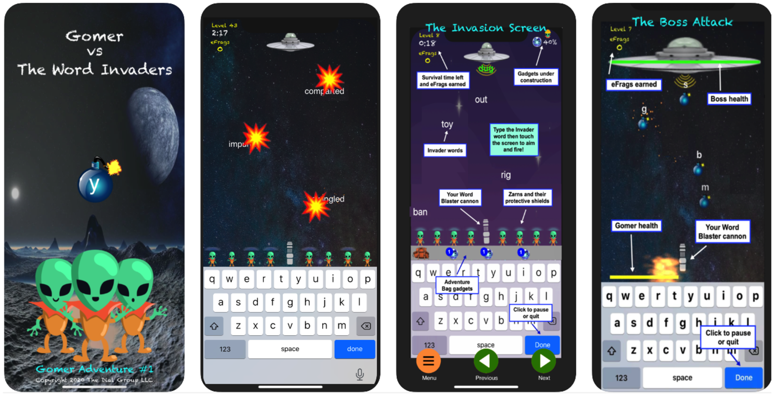 Play Gomer v The Word Invaders
